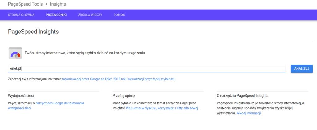 GooglePageSpeedTools - tworzenie stron www